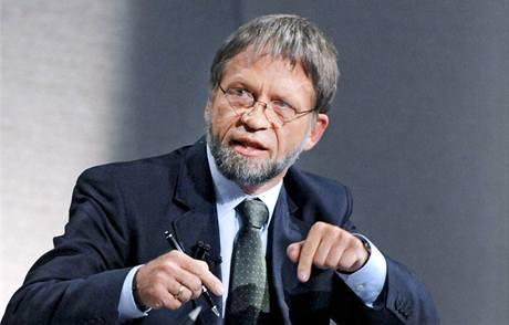 Antanas Mockus, starosta Bogoty a kandidát na prezidenta Kolumbie.