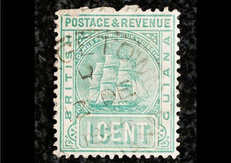 Britská Guyana, slavná jednocentová známka z roku 1856. V poslední dražbě v roce 1980 přišla nového majitele na 935 tisíc dolarů.