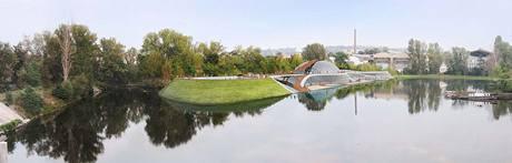 Návrh aquaparku u Libeňského mostu