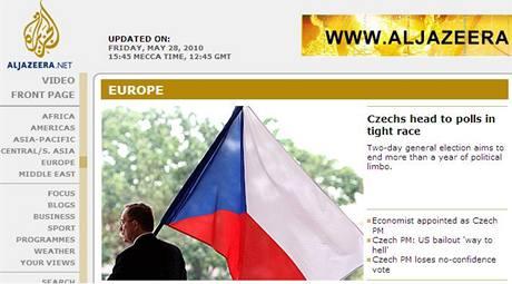 České volby na katarské televizi Al-džazíra (29. května 2010)