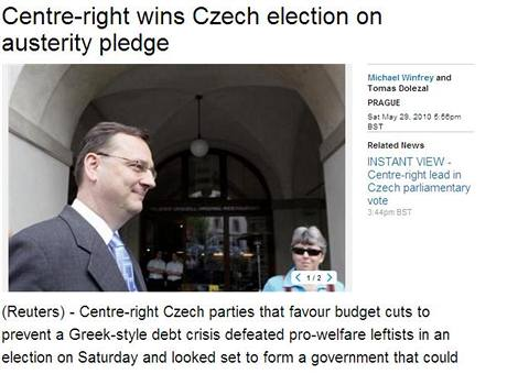 České volby ve světové agentuře Reuters (29. května 2010)
