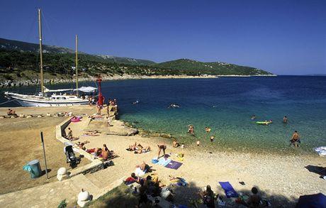 Chorvatsko, Cres, záliv poblíž Osoru