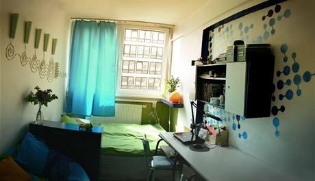 Strahovské koleje: pokoj dvou studentek architektury