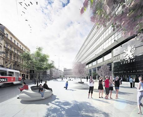 """Návrhy architektů se snaží """"zlidštit"""" například prostranství před Veletržním palácem"""