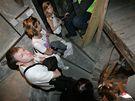 Noc kostelů v Brně - zvonice na kostele svatého Jakuba v centru města