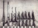 Zbraně, které bratři Mašínové uloupili a zakopali v Československu před útěkem do Západního Berlína.