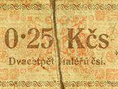 Speciální peníze, kterými se po únoru 1948 platilo ve vězení.