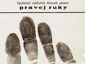 Na žatecké výstavě o odbojové činnosti ve městě roku 1949 je k vidění i reprodukce záznamu z kartotéky s otisky prstů jednoho z nepřátel režimu Jiřího Vovse.