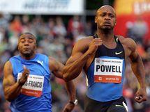 GIGANT. Asafa Powell (vpravo) na mítinku Zlatá tretra