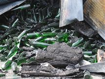 Budovu Nového vinařství v Drnholci zničil požár