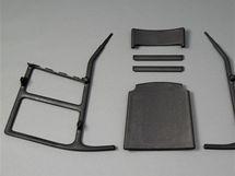 demontované houpací křeslo Ellan zkolekce Post Demontované houpací křeslo Scriptum (2005), design Chris Martin, výroba IKEA, materiál lisované piliny