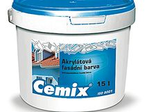 Akrylátová fasádní barva Cemix vyniká stálostí a odolností povrchu