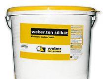 Tekutý minerální jednosložkový nátěr Weber.ton silikát na bázi vodního skla