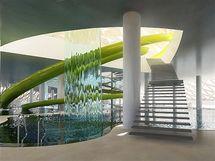Návrh aquaparku - interiér