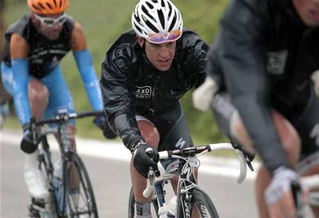 Australan Richie Porte na trati Giro d'Italia.