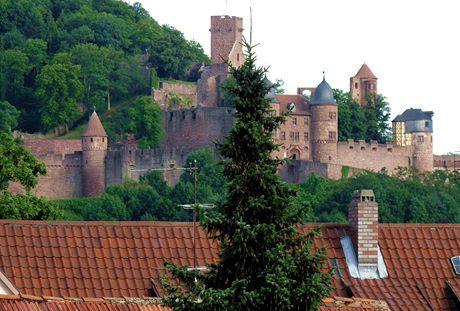 Německo, Mohanská cyklostezka, hrad ve Wertheimu