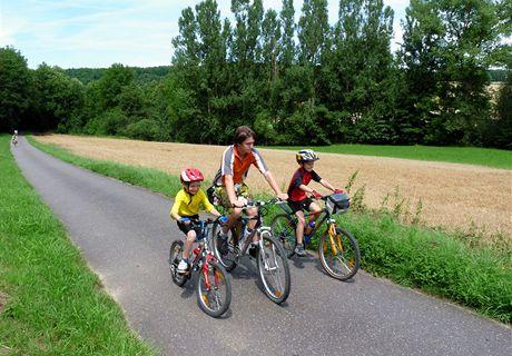 Německo, Mohanská cyklostezka, na cyklostezce z Wertheimu do Tauberbischofsheimu
