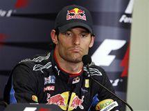 Mark Webber mluví na tiskové konferenci po Velké ceně Turecka o kolizi s týmovým kolegou Vettelem.