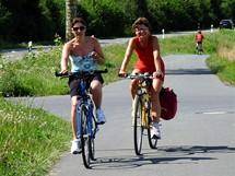 Německo, na Mohanské cyklostezce u Tauberbischofsheimu