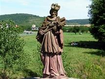 Německo, socha na  mostě u Werbachu na cyklostezce Wertheim-Tauberbischofsheim