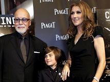 Céline Dion s manželem René Angélilem a synem René-Charlesem