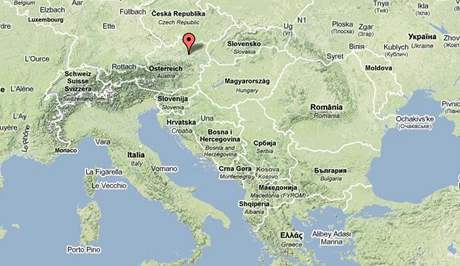 mapa rakousko