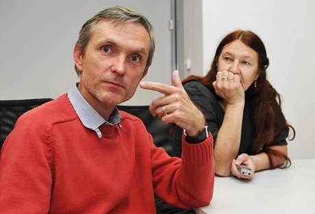 Zbyněk Fišer a autorka rozhovoru Jana Soukupová
