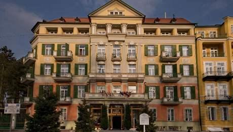 Bývalý hotel Königsvilla (dnes Pawlik), údajné sídlo Golf-Clubu Francensbad.