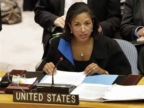 Americká zástupkyně v Radě bezpečností OSN Susan Riceová (9. června 2010)