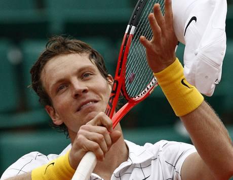 Radost Tomáše Berdycha z postupu do semifinále Roland Garros 2010