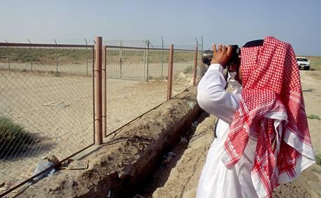 Plot na hranici Saudské Arábie s Kuvajtem.