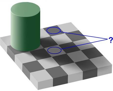 Šachovnice a stín
