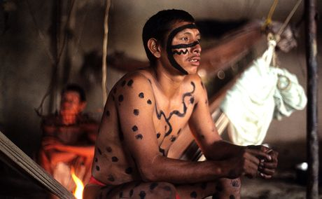 Amazonie, yanomamský šaman