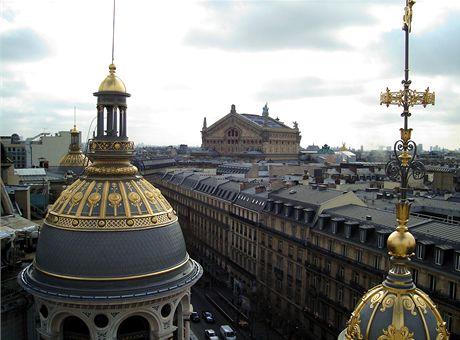 Paříž, výhled ze střechy obchodního domu Printemps