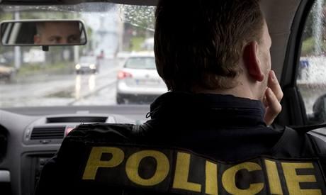 Výhled z policejního auta