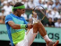 Rafael Nadal a jeho radost během finálového zápasu.
