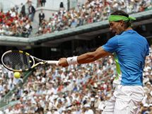 Rafael Nadal během finále Roland Garros.