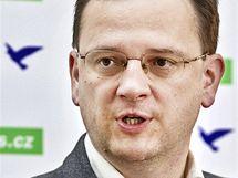 Volební lídr ODS Petr Nečas. (1. června 2010)