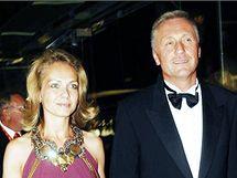 Mirek Topolánek a Lucie Talmanová při zahájení MFF v Karlových Varech. (3. července 2008)