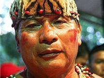 Amazonie, kulturní show v La Esmeraldě, bolivijský šaman