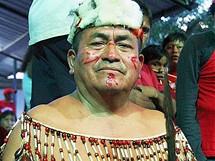 Amazonie, kulturní show v La Esmeraldě, ekvadorský šaman