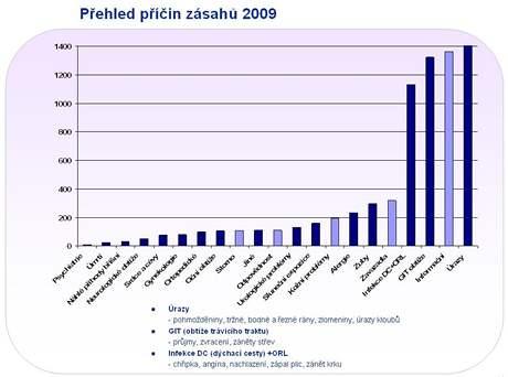 Přehled příčin zásahů asistenční služby v roce 2009