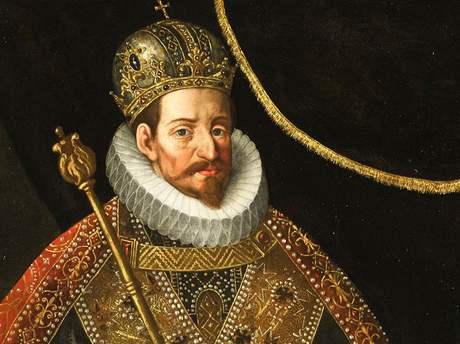 Matyáš Habsburský (1557-1619, tamtéž) císař římský, král český, uherský a chorvatský a arcivévoda rakouský z dynastie Habsburků. Obraz Hanse von Aachena (1552–1616), olej na plátně je v majetku Rijksmuseum Amsterdam.