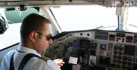 Pilot letadla na lince Brno Zadar