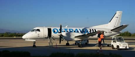 Letadlo linky Brno Zadar na letišti v Chorvatsku
