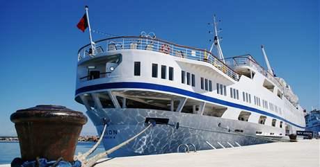 Loď v přístavišti Zadar u Jadranského moře