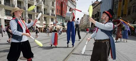 Festival Divadelní svět v Brně zahájila Noc kejklířů, akce nabídne zhruba 200 inscenací (11. červen 2010)