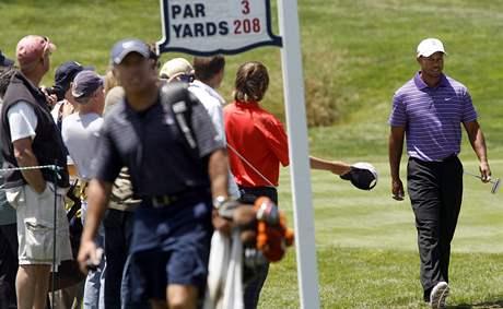 Tiger Woods, trénink na US Open 2010.
