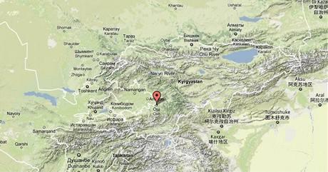 Měso Oś v Kyrgyzstánu. Mapa.
