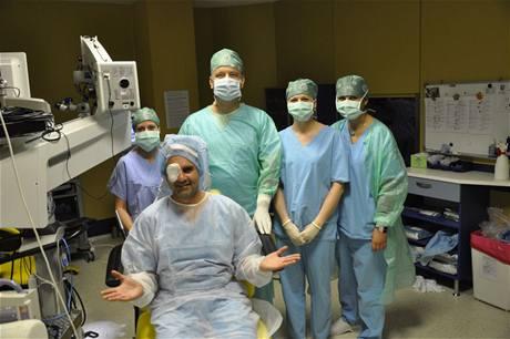 Jan Kalousek po operaci.